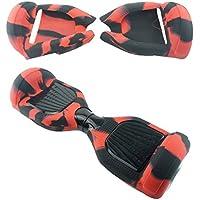 Fbsport Hoverbretts Silikon Schutzhülle Case Skin, 360 Grad Anti-Kratz Kasten Anti-Rutsch Abdeckung Aufkleber für 6,5 Selbstausgleichende Scooter Gummi Hülle