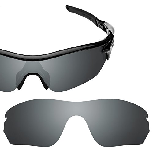 Verres de rechange pour Oakley RadarLock Edge — Plusieurs options Noir Chrome MirrorShield® - Non-Polarisés