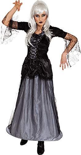 Ladies Long Gothic Corpse Bride Graveyard Queen Halloween Zombie Horror Fancy Dress Costume Outfit UK 8-22 Plus Size (UK 8-10 (EU 36/38)) (Size Plus Braut Zombie Kostüm)