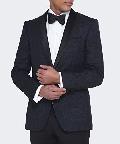 BOSS Hugo Boss Hommes Veste de laine vierge Hockley Noir Noir
