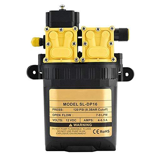 EYLIFE Wasserdruckmembranpumpe DC 12V Druckschaltersprühgerät, 120 Psi, Ersatzpumpe für Punktsprühgeräte, Flüssigdüngergeräte, Pflanzgefäß und Reservewassersystem