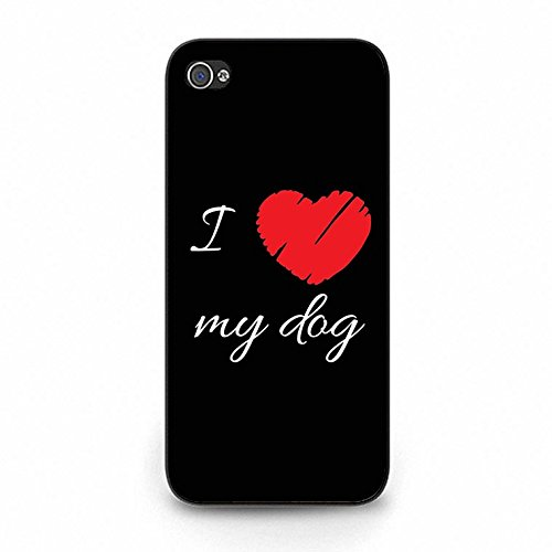 Iphone 5c Case,Fancy Dream I Love My Dog Phone Case Cover for Iphone 5c Animal Dog Shell Cover Color159d