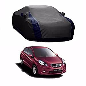 MotRoX Lively Water Resistant Car Body Cover for Honda Amaze (Grey & Blue - V Shape)
