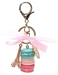 iTimo Gold Metal Macaron Keychains Eiffel Tower Car Key Rings Lovely Keyring  Gifts for Girls Key d99ddf51abfd