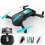 FPV Radio R/C Portable Quadricoptère 720P Caméra WiFi Pliable Selfie Drone De Poche VS E58 Télécommande Flycam Hélicoptère,Blue