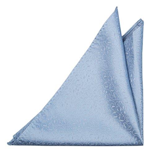 Preisvergleich Produktbild Notch Einstecktuch aus Seide für Herren - Seide in Stahlblau & Ton-in-Ton Weinreben