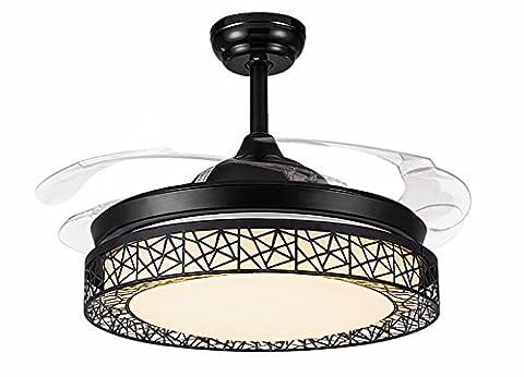 LighSCH Schlafzimmer Mute Stealth Deckenventilatoren mit Beleuchtung das Restaurant Fan Light das Wohnzimmer Einrichtung Dimmer Wand Steuerung Durchmesser (Fan-wand Steuerung)