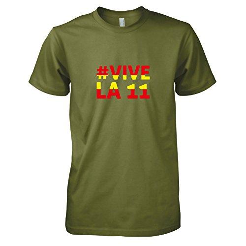 TEXLAB - Espana Vive La 11 - Herren T-Shirt Oliv