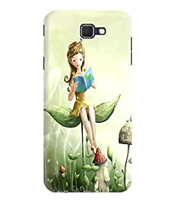 Gismo Samsung Galaxy J7 max / Samsung Galaxy J7 max Back Cover / samsung j7 max Designer 3d Printed Hard Back Case - Cute Animated girl Reading Book
