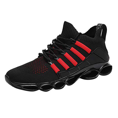 Anglewolf Herren Leichte Freizeitschuhe Atmungsaktiv Turnschuhe Sportschuhe Bequem Fitness Mesh Air Schuhe Leichtgewichts Laufschuhe Freizeit Atmungsaktive Sneakers (Mehrfarbig,43 EU)