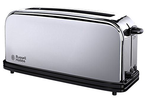 Russell Hobbs 23510 56 Langschlitz Toaster Chester Extra Breiter Toastschlitz Brtchenaufsatz 1000 Watt Edelstahl