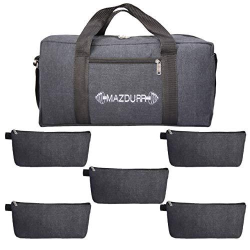 Werkzeugtasche aus Segeltuch, strapazierfähig, inklusive 5 große Werkzeugtaschen mit Reißverschluss, Jumbo-Werkzeugtasche, 45,7 cm -