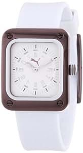 Puma Time Damen-Armbanduhr Frame Brown Analog Quarz Plastik PU102562006