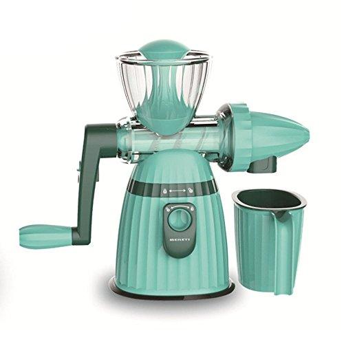 OFOY Manuelle Entsafter Eismaschine Einfach Und Leicht Zu Reinigen Hohe Ernährung Fruchtsaft Gemüsesaft Grün