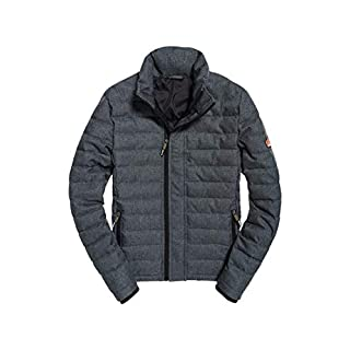 Superdry Men's Double Zip Fuji Sports Jacket, (Black Tweed ATD), XX-Large (Size: 2XL)
