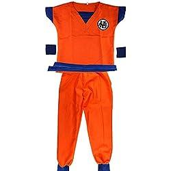 Disfraz de Dragon Ball His Goku Vestir Traje de Dormir Vestido recién Nacido Dragon Ball Su Hijo Goku Disfraces de fantasía Conjunto de Vestidos Fiesta de Halloween