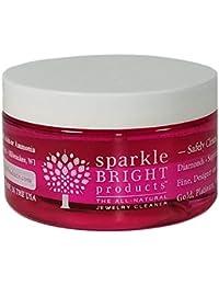 Sparkle Bright Products Limpiador de Joyería Completamente Natural | 4oz. Limpiador líquido con Bandeja Desplegable y Cepillo para Detalles Pequeños