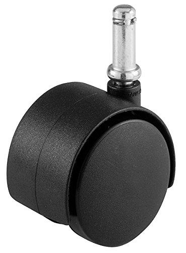 Shepherd Hardware 95772Bürostuhl Caster, Twin Rad, 5/16Zoll Vorbau Durchmesser, 75-lb Tragkraft, 9674