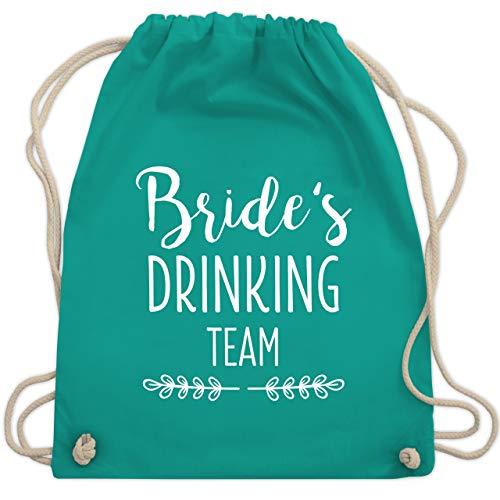 Junggesellinnenabschied Motto Kostüm - JGA Junggesellinnenabschied - Bride's Drinking Team - Unisize - Türkis - WM110 - Turnbeutel & Gym Bag