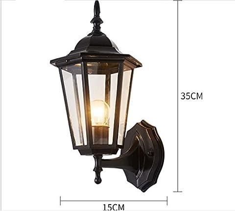 Balcony wall lamp European waterproof retro bedside LED corridor aisle exterior wall lamp garden outdoor wall lamp , 8115+5 watt