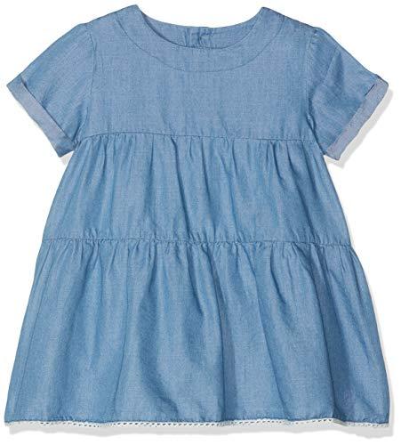 NAME IT Baby-Mädchen NMFALISY DNM 2179 S/S Dress Kleid, Blau Medium Blue Denim, (Herstellergröße: 98)