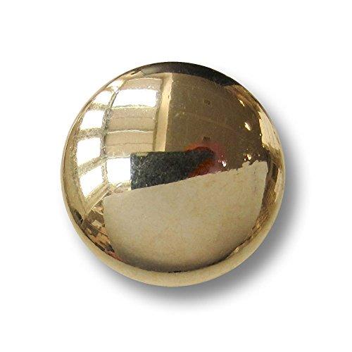 Leichte Uniform (Knopfparadies - 8er Set leicht gewölbte schlichte Metall Ösen Knöpfe für Uniformen, etc. / glänzend goldfarben / Metallknöpfe / Ø ca. 10mm)