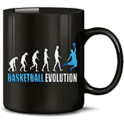 Sport - Balón de baloncesto de diseño de evolución de taza de café - Taza de té - taza de cerámica de en div. De coloures vivos