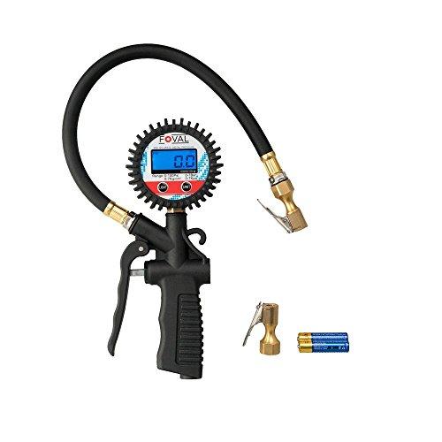 Foval Digital Reifenfüller und Luftdruckprüfer für Auto, 3 in 1 Reifenfüller,Reifen Manometer Fahrrad,Mottorad und mehr