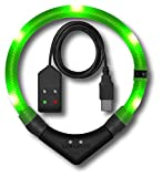 Leuchtie LED Leuchthalsband Premium Easy Charge neongrün Größe 52,5 USB Akku LED Halsband für Hunde