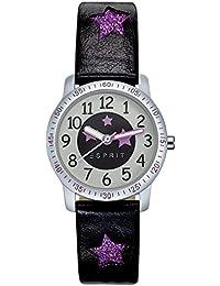Esprit Mädchen Armbanduhr Datum klassisch Quarz Leder ES103524019