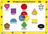 Little Wigwam - Formen und Farben Platzdeckchen Platzset Tischset Für Kinder (Englisch)