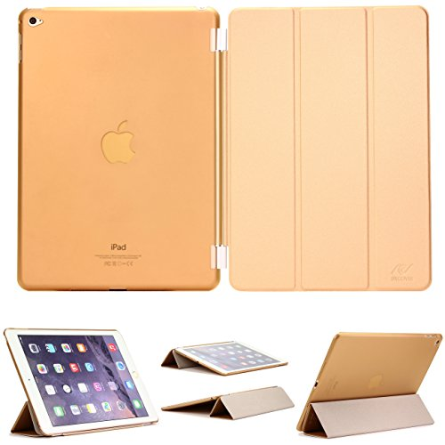 Urcover Original iPad Air 2 (2014 Version - 6.Generation) Smart Cover Case Etui Schutz Hülle mit Sleep/Wake und Ständer Funktion inkl. Bildschirmschutzfolie & weiteres Zubehör - Champagner Gold