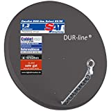 DUR-line Select 85/90cm Anthrazit Satelliten-Schüssel - 3 x Test...