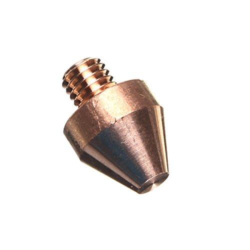 KUNSE 1/8Cm Kupfer Electric Fit Spot Schweißen Flache Kopf Mutter Gerade Elektrode 380A -
