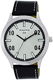 Maxima Analog White Dial Men's Watch-L-62388