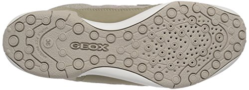 Geox Jr Tale A, Baskets Basses fille Beige - Beige (c5000)