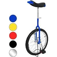 Physionics® Einrad 20 Zoll mit Alu-Stahlfelgen höhenverstellbar Sattelstütze mit Schnellspanner in 5 verschiedenen Farben