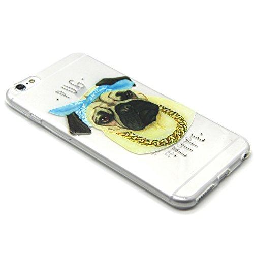 iPhone 5 5S Custodia, iPhone 5 5S Cover, iPhone 5 5S Case, Felfy Custodia Trasparente Chiaro Ultra Sottile Silicone Gel TPU Morbida Elegante Belle Rosa Farfalla Floral Fiore Bling di Scintillio del Di Cane