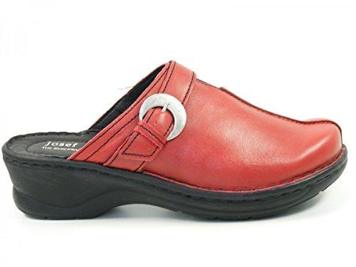 Josef Seibel 56470-23 Catalonia 21 Schuhe Sandalen Pantoletten Clogs Rot