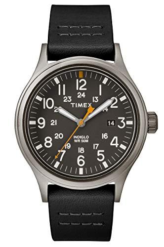 Timex Orologio Analogico Quarzo Uomo con Cinturino in Pelle TW2R46500