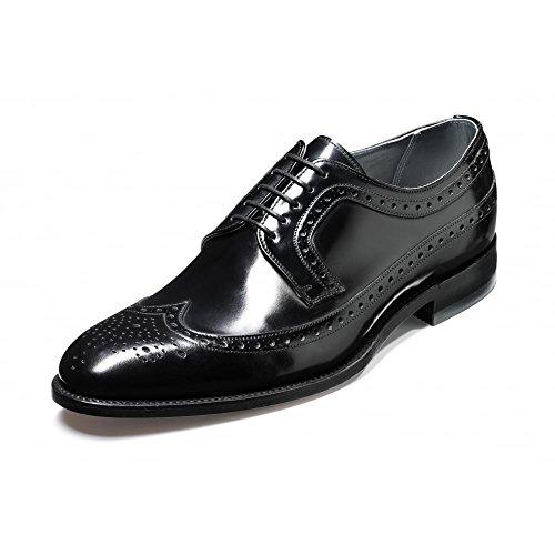 Barker Mens Woodbridge Black Leather Shoes 7.5 UK