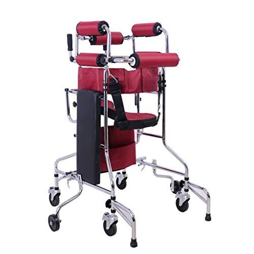 Fahren Sie EIN medizinisches vierrädriges Gehgestell, EIN Hilfsseil zum Anheben der Beine, verbreiterte Hüftgurte, eine Kippsicherung und EIN erwachsenes Gehgestell - Ersatz-arm-antrieb