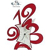 ARTI E MESTIERI | Reloj de sobremesa modelo ROBIN rojo_Decoracion Hogar Beltran