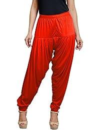 Goodtry Women's patiyala Free Size-New Orange