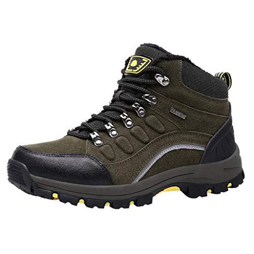 HDUFGJ Damen Trekking-& Wanderschuhe Wanderschuhe rutschfeste Outdoor-Schuhe Sneaker Leichtgewicht Laufschuhe Bequem Mode Freizeitschuhe Faule Schuhe Turnschuhe Fitnessschuhe Flache Schuhe38(Grün)
