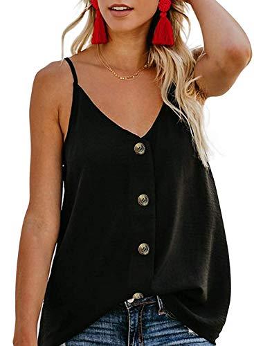 Maglietta da donna stampa manicotto a farfalla estate canotta in chiffon camicia senza maniche per ragazza