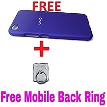 AssamTop Offer A Samsung Brand Back Ring With Vivo V5 & V5s Back Cover Double Dip Hard Back Cover Shock Absorber Protection Rugged Case For Vivo V5 & V5s Blue Color
