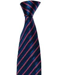 Krawatte von Mailando, mit Streifen, viele Farben, rot – schwarz – weiss – braun – blau – gold