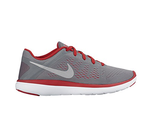 Nike Flex 2016 Rn (Gs), Chaussures de Running Entrainement Homme Gris (Gris (cool grey/metallic silver-university red))
