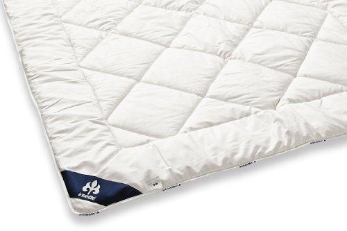 Badenia 03691060154 Bettcomfort Steppbett Irisette Merino wash Duo, 200 x 200 cm, weiß